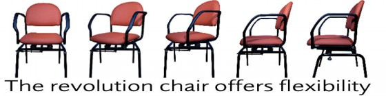 SmartChair for elderly to sit at table easily.