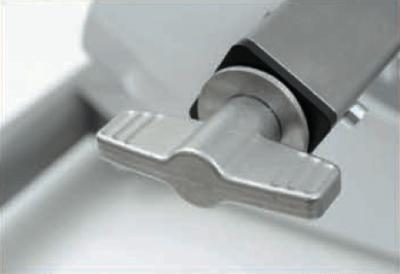 Spasmeknuser med hjælpemotor. Trinløs justering af radius.
