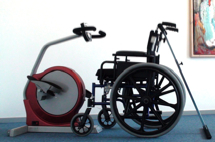 Kipsikring til kørestole. Støtter under træning