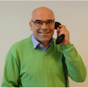 Carsten Lemche i telefonen