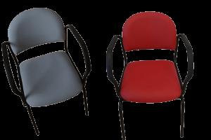 Smartstol-i-rød-og-grå