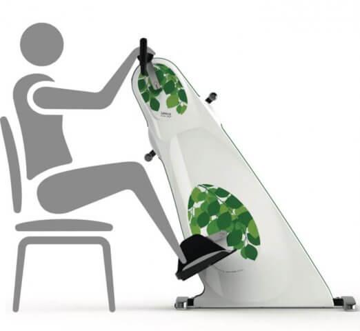 Træningscykel til kørestol - færre spasmer
