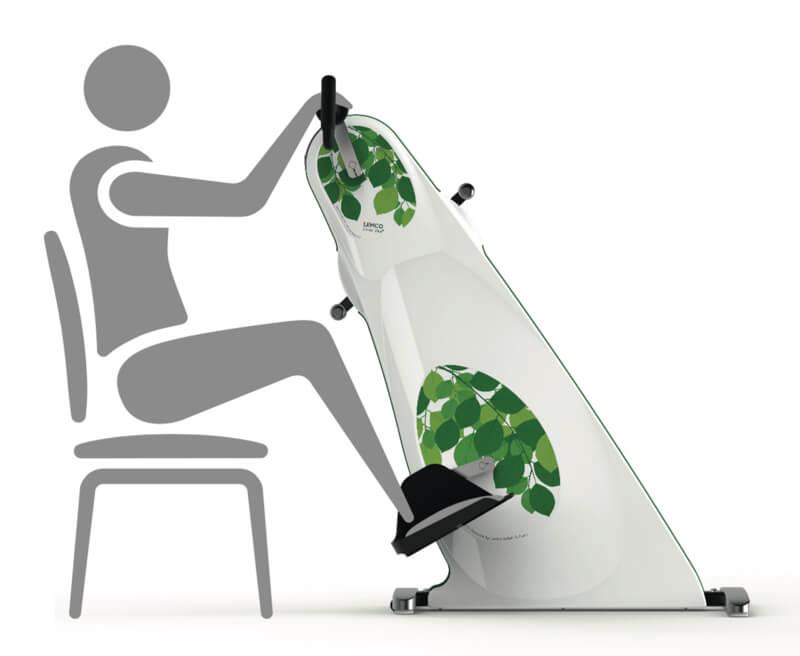 Træningscykel til kørestolsbrugere / Manuped til brug fra kørestol - udgået - se combi bike plus