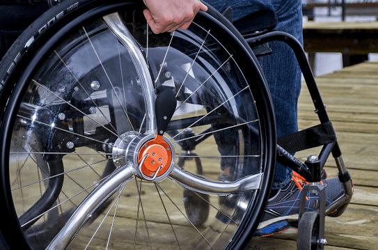 Hjul til kørestol med gear