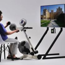 Aktivitetscykling med videoskærm-3