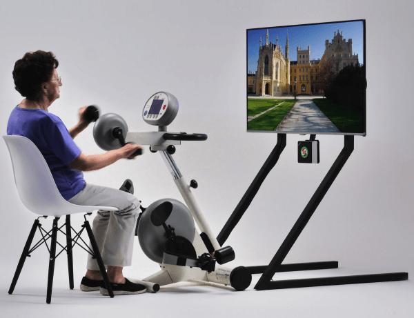 Aktivitetscykling med videoskærm