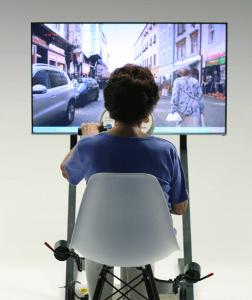 Aktivitetscykling med video på storskærm