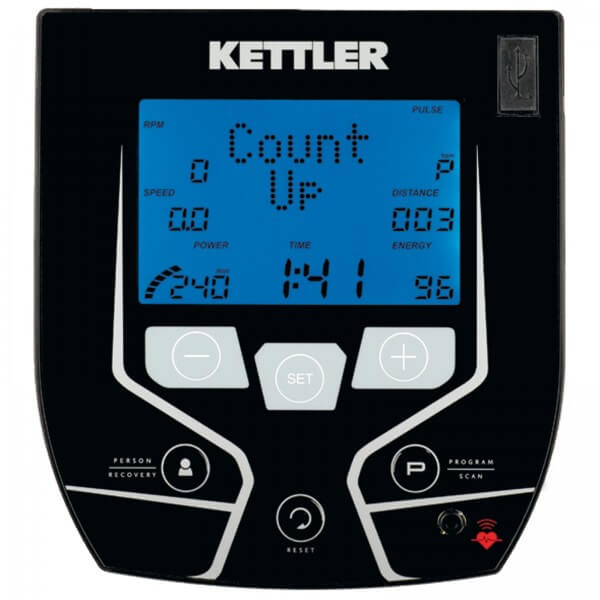 Kettler AXIOM motionscykel display