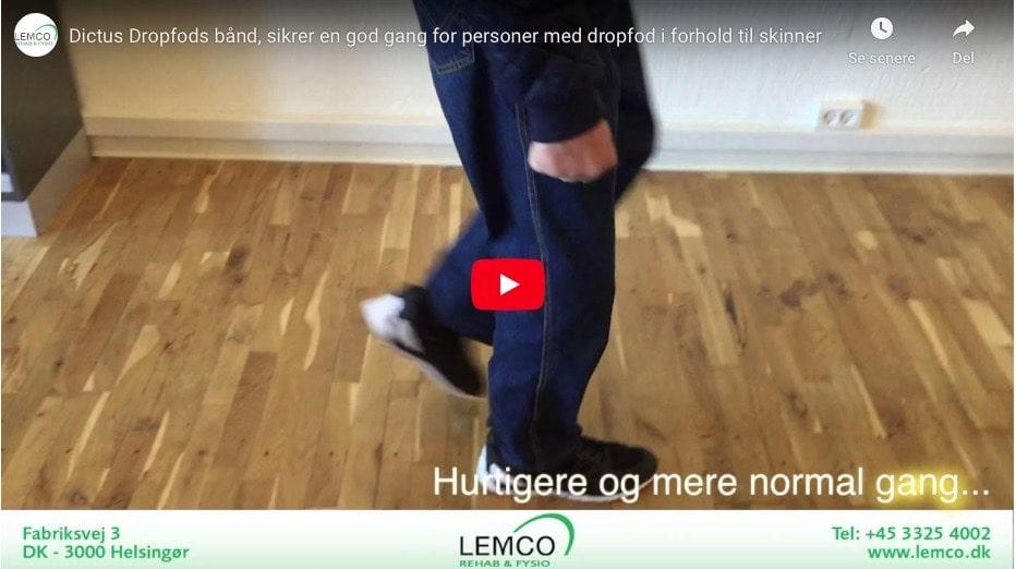 Dictus - dropfodsbånd til dig med dropfod se video
