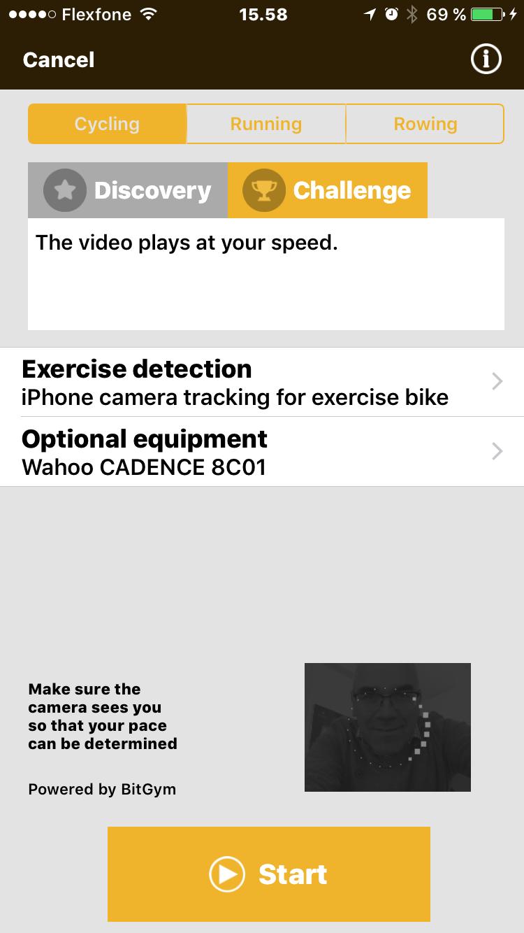 Cykelruter til motionscykler på video / Streamet