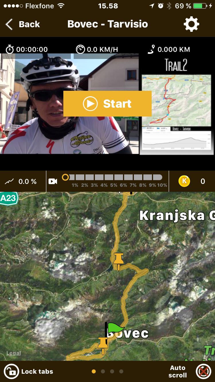 Kinomap Fitness Cykelture til Motionscykler