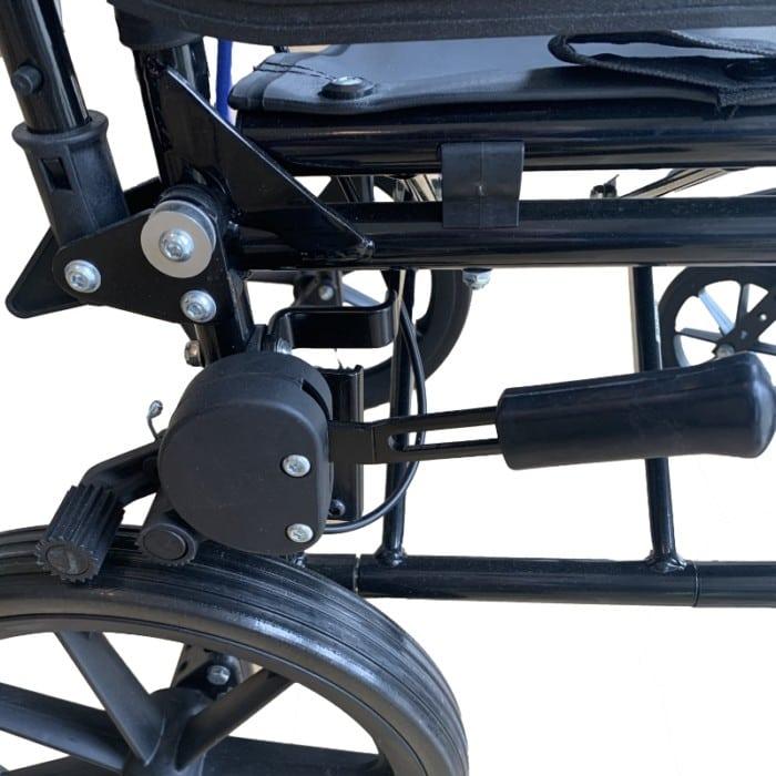 Bremse på transportkørestol