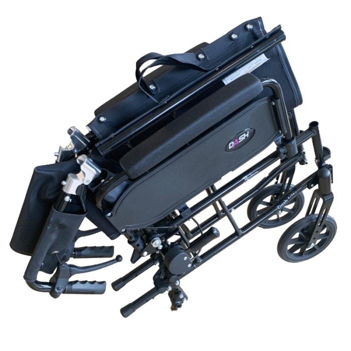 Transportkørestol sammenklappelig meget let