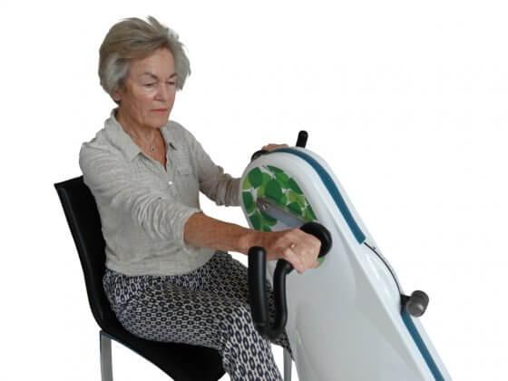 motionscykel til ældre til brug fra stol eller kørestol