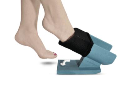 Strømpepåtager hjælp til at få stumper af og på