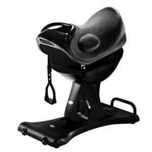 Handicapridning kan suppleres med træning i eget hjem på vores Elektriske Ridesaddel.