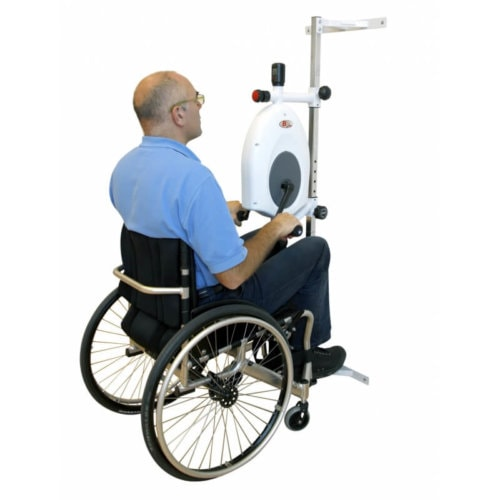 Arm trainer for wheelchair