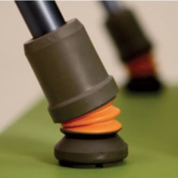 FlexyFoot skridsikker gummifod til krykke med affjedring