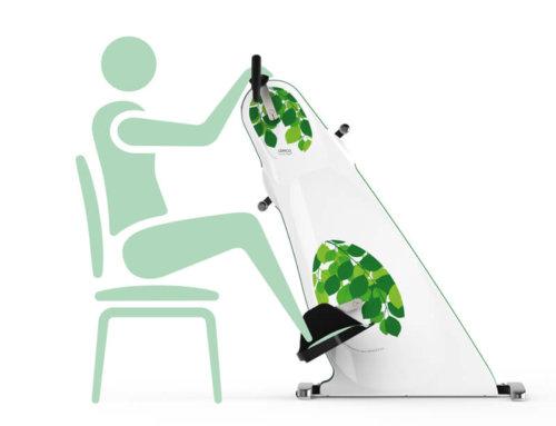 Lemco Combi Bike Plus indoor exerciser / Ergometer bike for wheelchair.