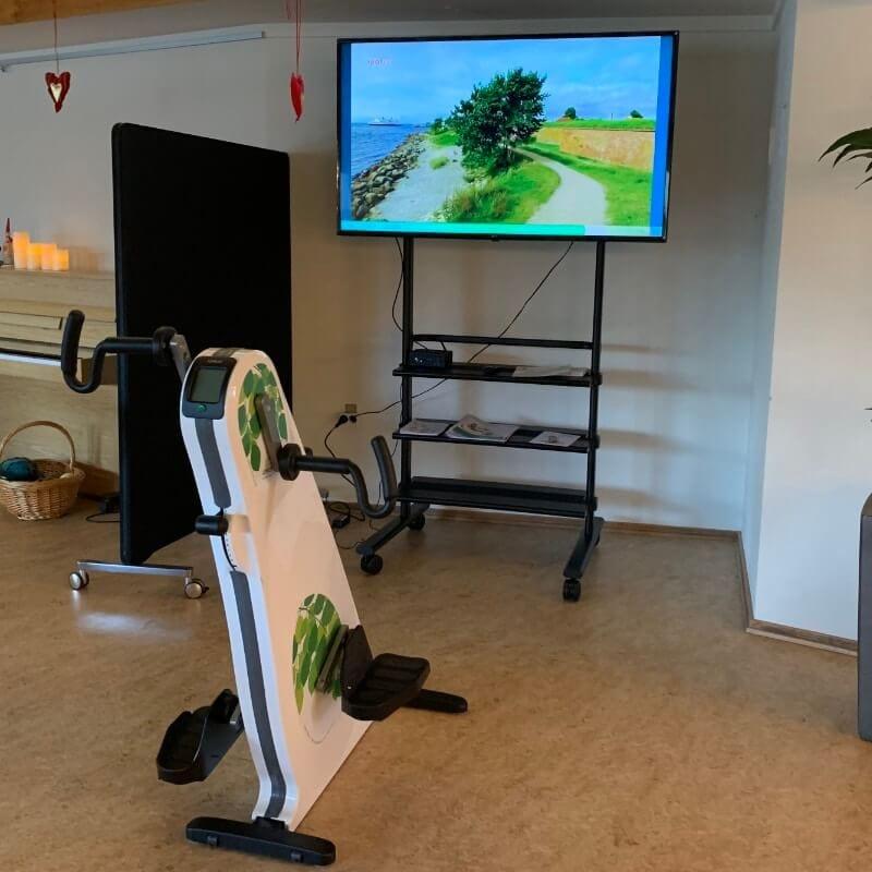 Videoture til cykling på storskærm på plejehjem m.v.