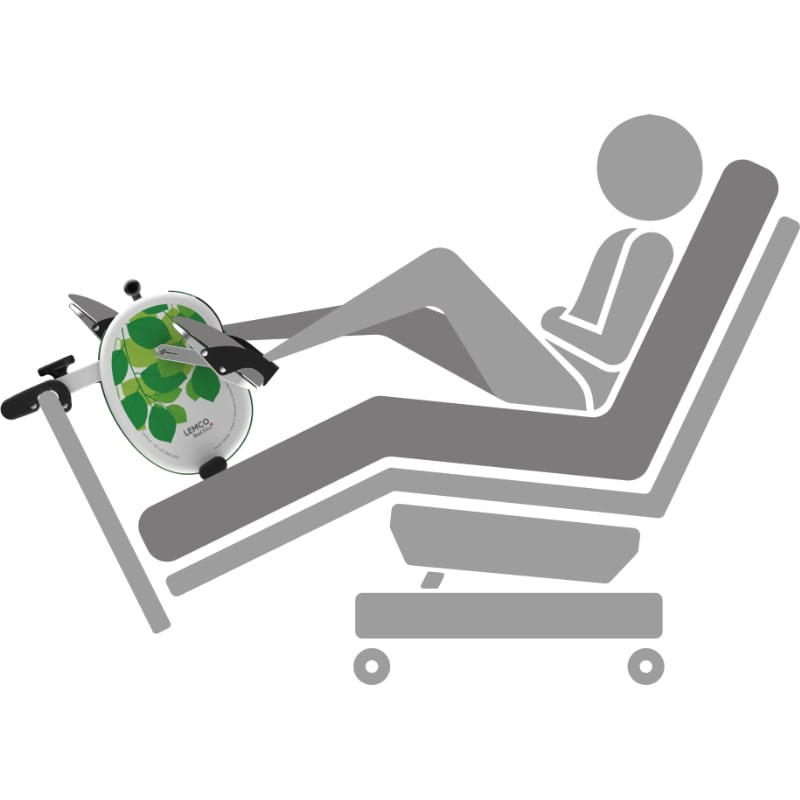 Exerciser for dialysis chairs