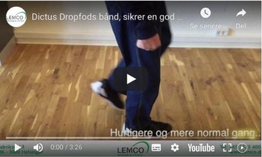 Dropfodsbånd til bedre gang med dropfod