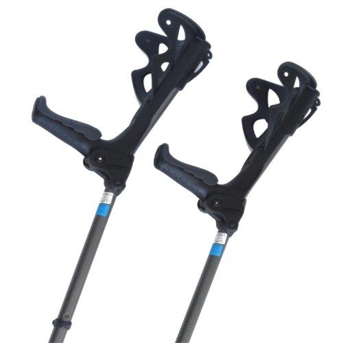 Krykke med fjedrende håndtag