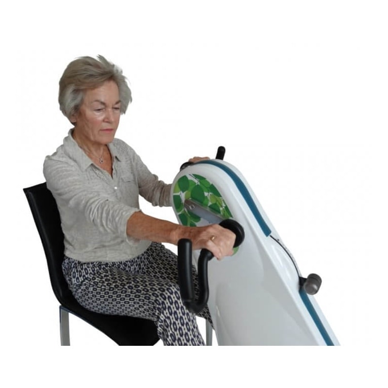Exerciser for wheelchair users