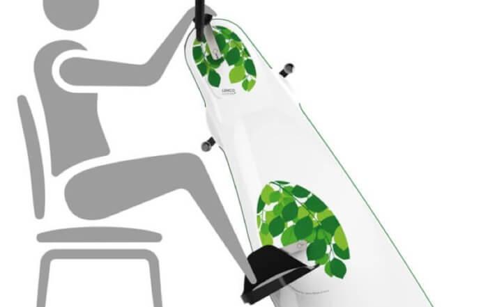 Træningscykel-til-stol- også kaldet manuped ( Kan lejes )