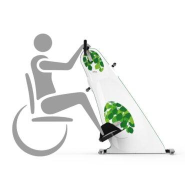 Motionscykel-til-kørestol-grå