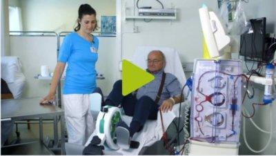Pedalier pour chasie de dialyse
