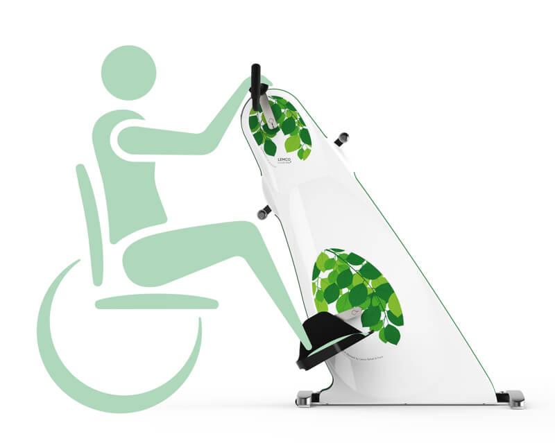 Træningscykel til kørestol