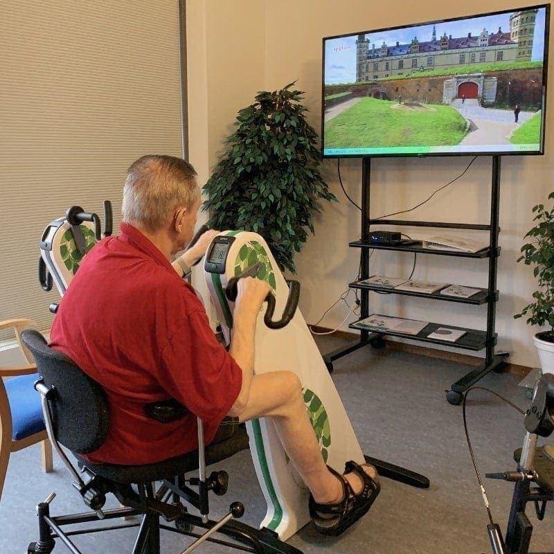 Video Rehab Video Ture på Storskærm, du kan cykle ture på din motionscykel med dette system