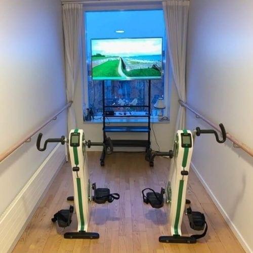 Video træningsstation til motionscykler 300px