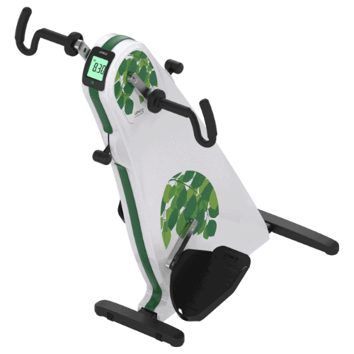 Exerciser for use from wheelchair leg exercises